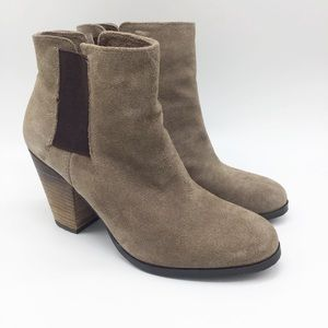 Vince Camuto Beige Leather Suede Boots 7.5